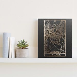 Distressed Gold Foiled The Lovers Tarot Print